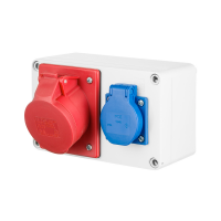 Baustromverteiler Stromverteiler Steckdosenverteiler / PCE Steckdosen Wandverteiler / 16A / 32A / CEE / VDE