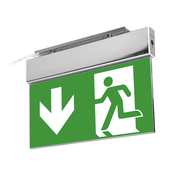 LED-Fluchtwegleute / Notausgangsleuchte mit Notstromeinheit (3h), 13 LEDs