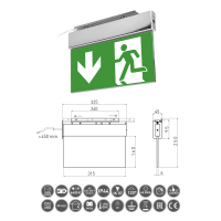 LED-Fluchtwegleute / Notausgangsleuchte mit...