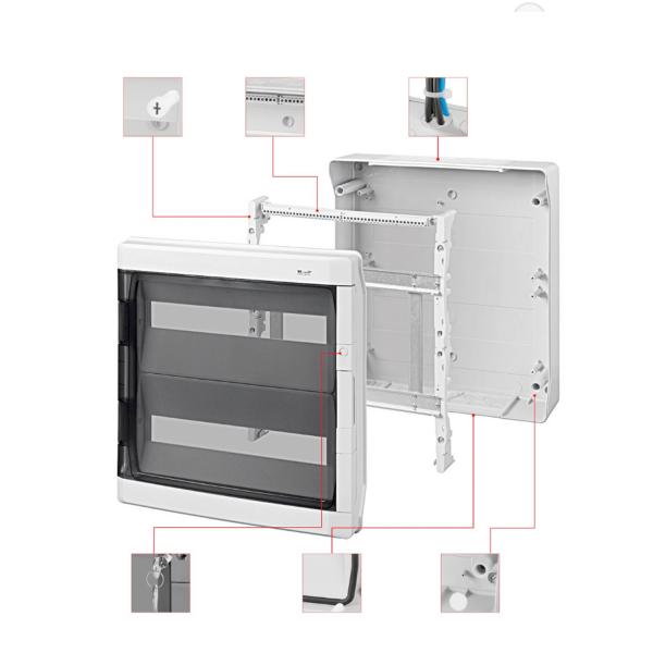 Sicherungskasten Verteilerkasten Feuchtraum strahlwasserdicht IP65 Aufputz