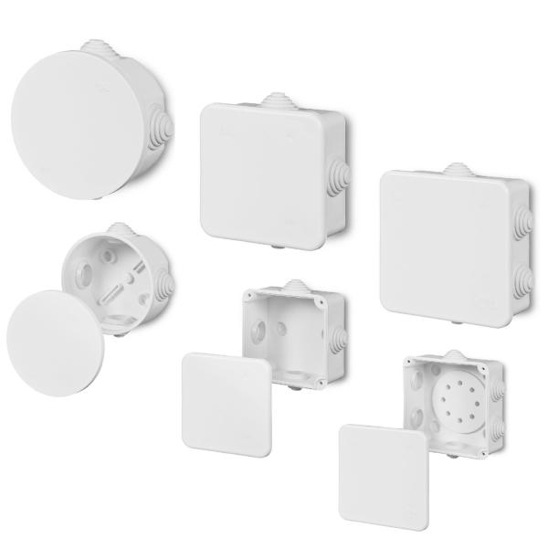 Aufputz Abzweigdose Verteilerdose Klemmdose / weiß oder grau / IP55 Feuchtraum