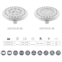 LED GU10 Leuchtmittel mit Power-LED-Chips GU10 12W LD-ES11 SMD Spot Aluminium