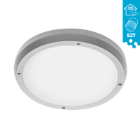 Deckenleuchte Wandleuchte elegant weiß silber IP65...