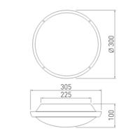 Deckenleuchte Wandleuchte elegant weiß silber IP65 E27 2x 20W innen und außen
