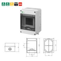 Aufputz Sicherungskasten Verteilerkasten Kleinverteiler IP55 IP65 Feuchtraum 400V AC