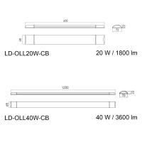 flache LED-Lichtleiste ideal für Büro,...