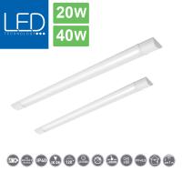 flache LED-Lichtleiste ideal für Büro, Werkstatt oder Keller / IP 40 / 20W oder 40W / 1800 lm oder 3600 lm