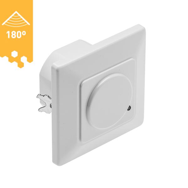 Unterputz Mikrowellen-Bewegungsmelder mit Radar / LED geeignet / 180 ° weiß
