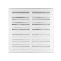Abluftgitter / Lüftungsgitter / Insektenschutzgitter / Lamellengitter / Edelstahl / weiß
